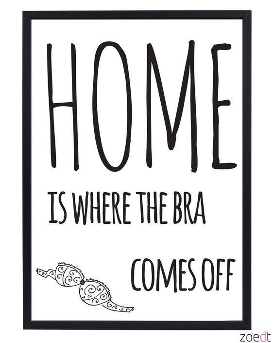 Doe jij je bh thuis altijd uit?